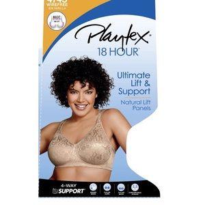 Intimates & Sleepwear - Playtex | 4745 Wirefree 18 Hr Bra in WHITE Sz 42B